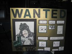 Literacy Night - Wanted Poster.  A great night for families to visit the school and see what each classroom is doing with literacy!