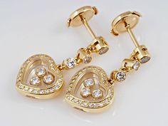 Chopard Happy Diamonds Ohrringe 0,91 Karat Brillanten Diamanten 750 Gold    eBay