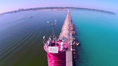 This video turned out great. It was the perfect weather, no wind, sun shining. If you look closely I am in the middle of the pier waving as the drone goes by. Sheboygan Wisconsin, Sheboygan County, Lighthouse, Fair Grounds, Cool Stuff, World, Amazing, Places, Travel