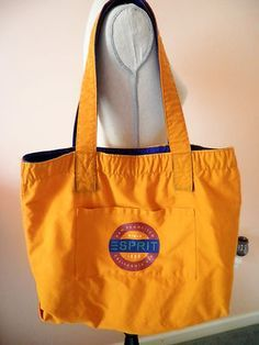 Vintage Esprit Tote- A girls staple in the and still carry mine in blue! e39e253c0