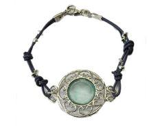 Roman Glass Bracelet Sterling Silver on Leather Bluenoemi,http://www.amazon.com/dp/B00CX6E9X8/ref=cm_sw_r_pi_dp_YyUQrb94B268498D