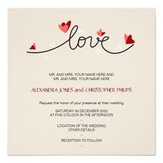 In Love Simple Elegant Text Wedding