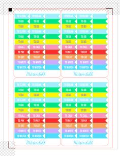MsWenduhh Planning & Printing: Free To Do Flags Print & Cut File for Planners