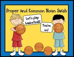 Your students will score big when they play the Common and Proper Noun Swish game.  This game is a great activity where players identify common and proper nouns in sentences while advancing their basketballs to the hoop.  Players also state which nouns need to be capitalized.