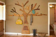 Baum Form und Linien Garderobe Idee Flur
