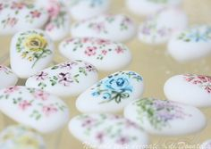 Hand painted sugar almonds by semalo63, via Flickr