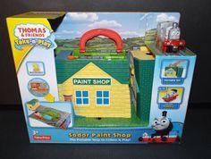 Thomas & Friends Take-n-Play Sodor Paint Shop Play-set NEW! #FisherPrice