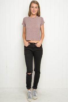 Brandy ♥ Melville | Tori Top - Tees - Tops - Clothing