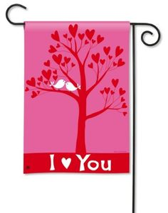 """I Love You Garden Flag by BreezeArt. $9.99. BreezeArt Decorative Garden Flag Dimensions: 12.5"""" x 18"""".. Silky Soft, Fade and Mildew Resistant SolarSilk Fabric.. Buy direct from Flags On A Stick and save on all your decorative flags today!. Hand wash, cold water, mild soap.. Garden flags make are a great home and garden decoration for any season and reason!"""