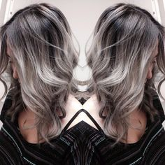 """Rooty #silver #hair @imallaboutdahair #imallaboutdasilver"""