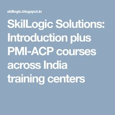PMI-ACP course is greatly practiced by the trained and professional individuals across the world. This training can be attained after qualifying Agile training check out other details