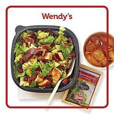 Top Fast-Food Picks for People with Diabetes   Diabetic Living Online WENDY'S HALF-ORDER APPLE PECAN SALAD WITH RASPBERRY VINAIGRETTE