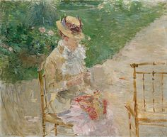 Young Woman Knitting. Berthe Morisot