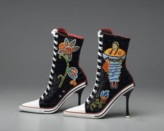 Shoes: The OUCH Report - native american beadwork + high tops