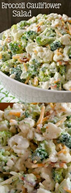 This Deliciously Sweet Broccoli Cauliflower Salad from Easy Peasy Pleasy is going to be your new quick and easy go-to recipe for the rest of the summer! It's a little bit sweet and a little bit salty…More 12 Easy Low Carb Salad Recipes #keto_recipes #Keto_diet #low_carb_meals