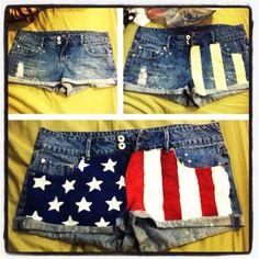 4th of July shorts! #DIY