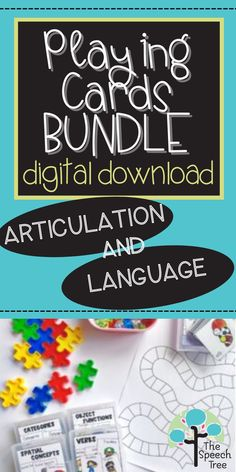 Grab this resource for a new FUN way to practice speech and language skills. This BUNDLE comes with 9 playing card decks targeting articulation, spatial concepts, verbs, vocabulary, functions, and so much more! These cards are SO versatile. The resource comes with 6 different ideas for how to use but I am sure you creative SLPs will come up with even more ideas. Almost anyway you can use a dice, you can use these cards!
