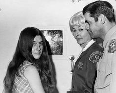 "Charles Manson's ""family"" during the arraignment of Patricia Krenwinkel for the…"