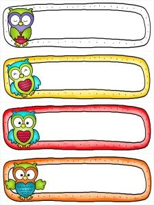 Free Owl Cubby Tags