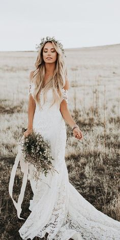 Wedding Dresses Vintage Dreams from the make boho wedding gowns.Wedding Dresses Vintage Dreams from the make boho wedding gowns Wedding Dress Trends, Country Wedding Dresses, Best Wedding Dresses, Boho Wedding Dress, Bridal Dresses, Wedding Shoes, Boho Lace Wedding Dress, Different Wedding Dress Styles, Gold Wedding