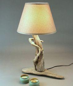 lampe bois flottés