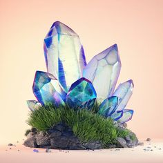 #crystal #sprouts #cinema #4d #c4d #cinema4d #octane #render #octanerender #photoshop #daily #3d #gfx #graphics #graphic #design #abstract #art #surreal #quartz #grass #minimal #studio #rock #geometry #pearlescent #mineral #realistic #rsa_graphics by hoodass