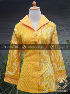 Model Baju Batik Wanita Opnaisel Megamendung Kuning | Indonesian Unique Batik Tops Clothing for Women - Men http://thebatik.co.id/baju-batik/