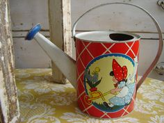 Vintage Tin Child's Watering Can by Ohio Art