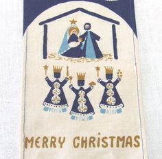 Danish MCM Christmas Wall Hanging by Jangaard by LinensandThings, $52.00