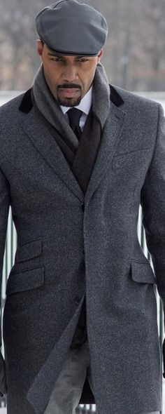 Grey Overcoat. ..Nice