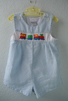 Vintage Baby Clothes  Blue & White Striped Romper by NellsNiche, $12.00