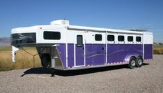 Purple horse trailer. It don't get much better then that.