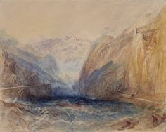 Joseph Mallord William Turner 'A Swiss Pass', ?1843 - Watercolour, graphite and scraping out on paper -  Dimensions Support: 232 x 291 mm -  © Manchester City Galleries