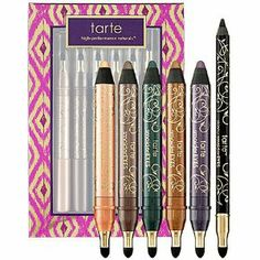 Tarte Eye Catchers 6-Piece SmolderEYES And Skinny SmolderEYES Collector's Set by Tarte. $69.99. Eye Catchers 6-Piece Smoldereyes & Skinny Smoldereyes Collector's Set - A thick or thin line of color on the eyes is one of the easiest ways to add sophistication to your makeup this Holiday season. Whether you go bold with a thick smudgy line or keep it sleek with a thin demure dash, Tarte has you covered with this limited-edition collection of Eye Ca...
