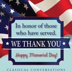 Thank you to those who served.  Happy Memorial Day!