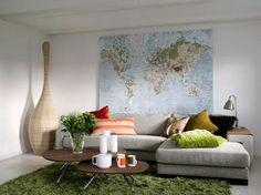 Los mapas son una opción decorativa para soñar.