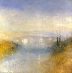 A River Seen from a Hill - Joseph Mallord William Turner