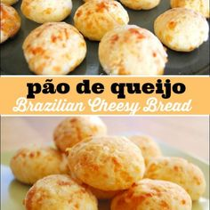 Pão de queijo is Brazilian Cheesy Bread. It is simple to make and is unlike anything you've ever tasted. My family loved this easy bread recipe! Cheesy Recipes, Easy Bread Recipes, Cooking Recipes, Brazillian Food, Cooking With Toddlers, Brazilian Cheese Bread, Honey Bread, Best Bread Recipe, Keto
