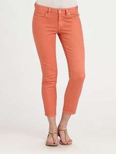 Tory Burch Cropped Skinny Jeans #SaksLLTrip