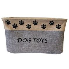 Fabric Toy Storage Container Toy Storage Baskets, Toy Bins, Cute Dog Toys, Pet Toys, Fabric Toys, Fabric Storage, Toy Containers, Puppy Supplies, Designer Dog Clothes