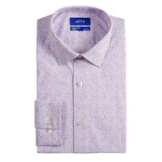 Thanks to its expandable collar and stretch fabric blend, this men's Apt. 9 dress shirt keeps you feeling great all day. Slim Fit Dress Shirts, Slim Fit Dresses, Fitted Dress Shirts, Shirt Dress, Homecoming Outfits For Guys, Tie Knots, Slim Man, Collar Dress, Sport Coat