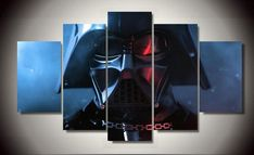 5 Piece Multi Panel Modern Home Decor Framed Star Wars Darth Vader Wall Canvas Art - Octo Treasures - 1 Abstract Canvas, Canvas Wall Art, Wall Art Prints, Poster Prints, Posters, Canvas Poster, Canvas Prints, Marvel Canvas, Marvel Wall Art
