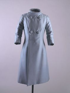 Pale Blue Coat, 1962, Oleg Cassini.  John F. Kennedy Presidential Library & Museum