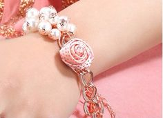 Hey, I found this really awesome Etsy listing at https://www.etsy.com/listing/450933986/the-light-pink-rose-flower-white-pearl