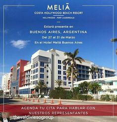 Credit to @ thevaldiviesogroup :  El equipo de Meliá Costa Hollywood estará presente en Buenos Aires Argentina el próximo 27 al 31 de Marzo! Para más información envíanos un email a anamaria@ costahollywood.com o llámanos al 786.202.6067!#Miami #RealEstate #Florida #TheValdiviesoGroup  #LuxuryHome #MeliaHotels  #hollywoodtapfl #hollywoodfl #hollywoodflorida #hollywoodbeach #downtownhollywood #miami #fortlauderdale #ftlauderdale #aventura #dania #daniabeach #hallandale #hallandalebeach #davie…