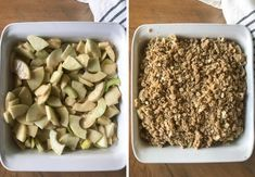 The BEST APPLE CRISP recipe! The perfect ratio of apples & crumble topping! Eat this warm with vanilla ice cream for the best fall dessert ever! | bakedinaz.com #applecrisp #dessert #apples #bakedapples #falldessert Best Apple Crumble Recipe, Apple Crumble Topping, Apple Crisp Recipes, Spiced Apples, Baked Apples, Apple Desserts, Fall Desserts, Old Fashioned Apple Crisp, Golden Delicious Apple