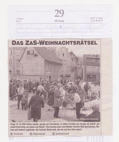 altes Foto aus Stralsund,am 29.12.2014 aus einer Zeitung ausgeschnitten