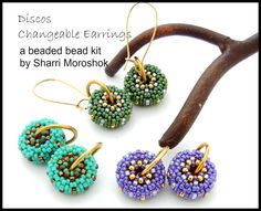 Discos Changeable Beaded Bead Earrings Kit - includes instructions and materials