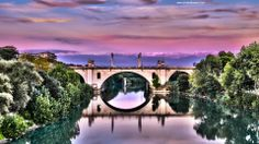 Roma - fiume Tevere -Tevere #river #Rome  #view #streetview #panorama #bridge