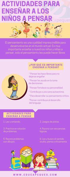 Cómo Enseñar a Pensar a los Niños | Infografía | Blog de Gesvin